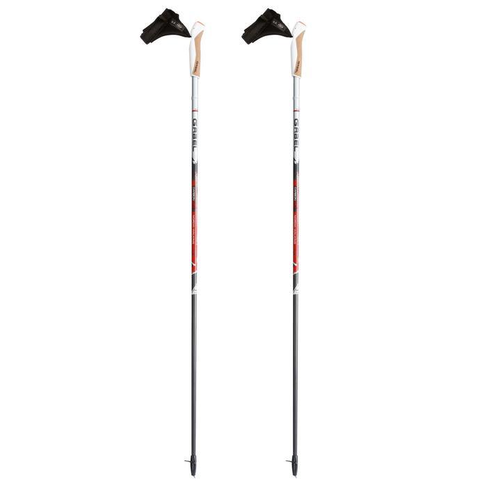Bastones de marcha nórdica X-5 negro/gris/rojo
