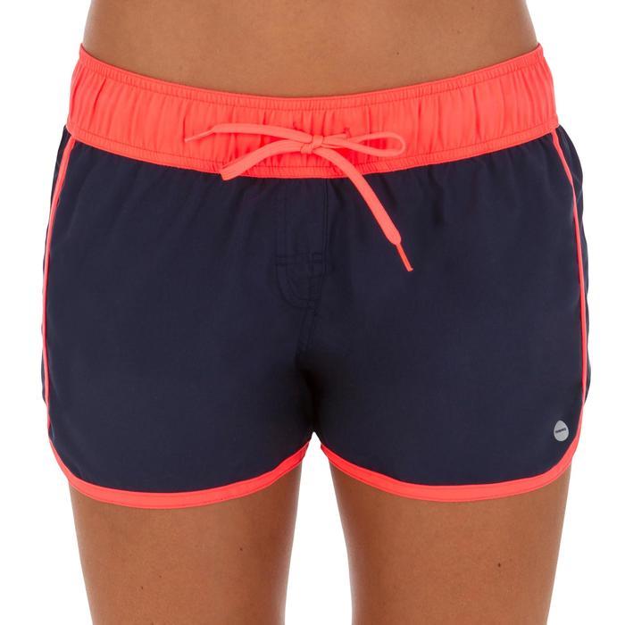Boardshort corto mujer TINI COLOR B FROZ con cintura elástica y cordón