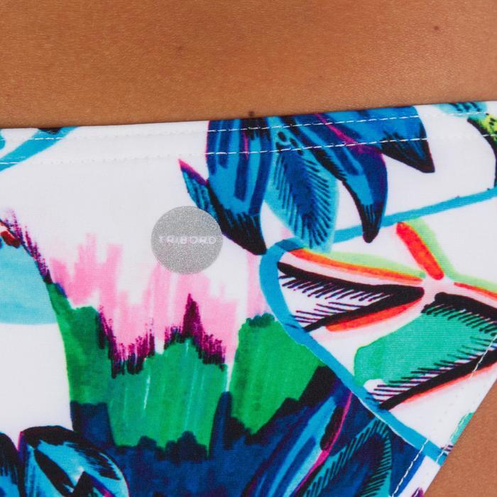 Bas de maillot de bain de surf femme échancrée et nouée côtés SABI COLORB - 1086038