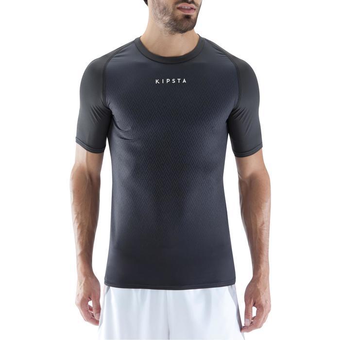 Camiseta térmica transpirable manga corta adulto Keepdry 100 negro
