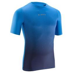 Keepdry 100 成人透氣短袖底層衣 - 藍色