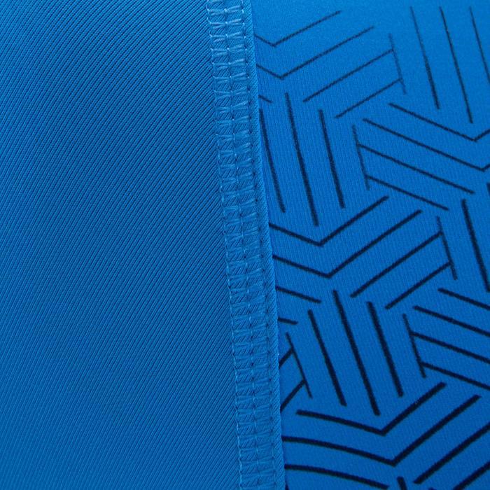 Camiseta térmica de fútbol manga corta adulto Keepdry 100 azul degradación