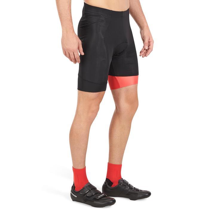 Fietsbroek voor racefietsen heren zonder bretels Roadcycling 500 zwart/rood