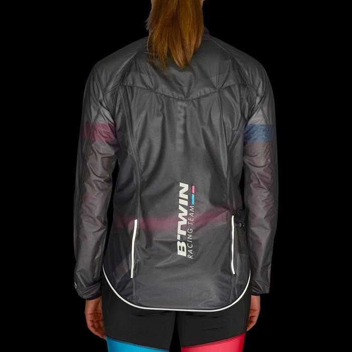 IMPERMEABLE CICLISMO 900 MUJER UTRALIGHT NEGRO