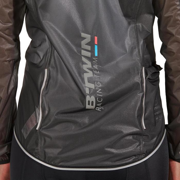 Fahrrad-Regenjacke Rennrad RC 900 Ultralight Damen schwarz