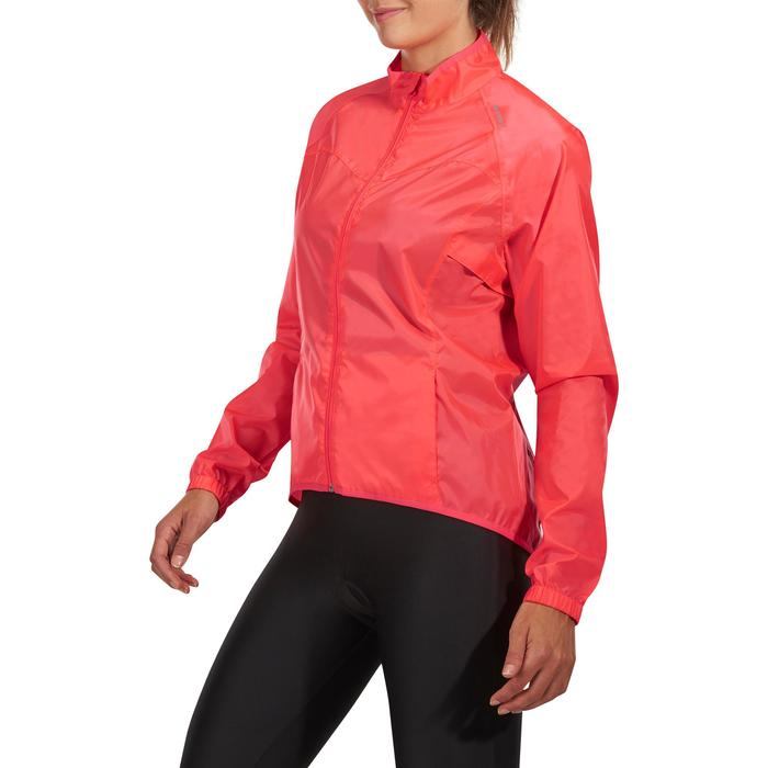 COUPE PLUIE VELO FEMME 100 ROSE - 1086534