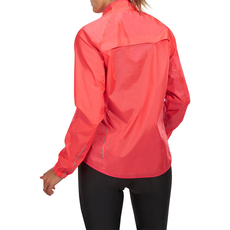 IMPERMEABLE CICLISMO MUJER 100 ROSA