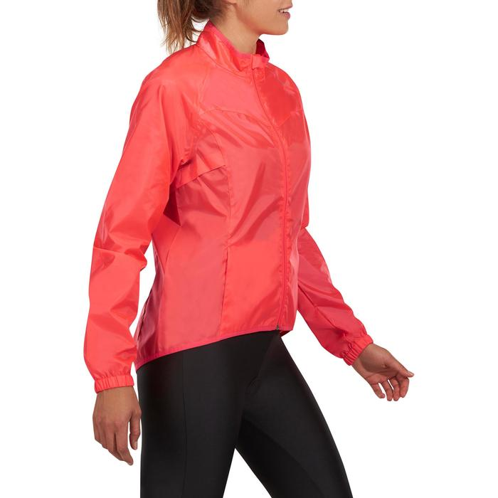 COUPE PLUIE VELO FEMME 100 ROSE - 1086536