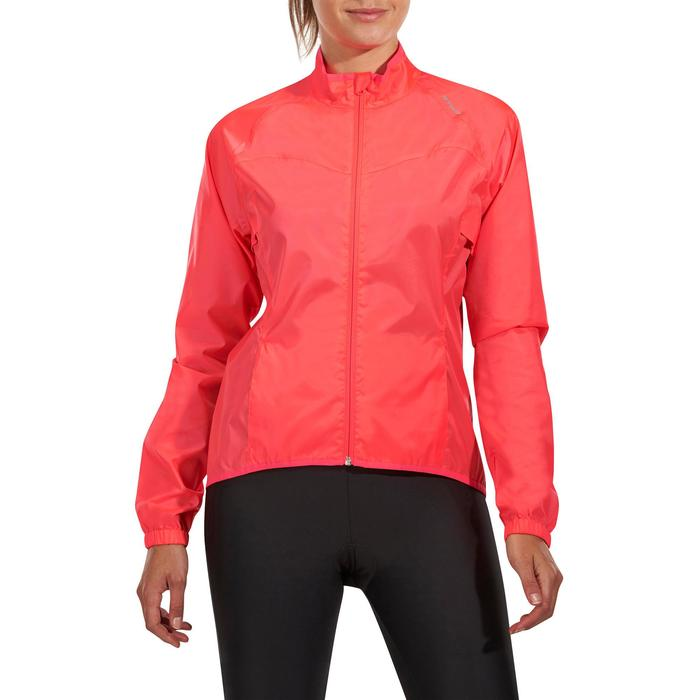COUPE PLUIE VELO FEMME 100 ROSE - 1086537