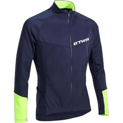 500 Long-Sleeved Road Cycling Cyclotourism Jersey - Blue/Yellow