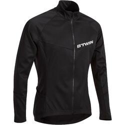 Fietsshirt met lange mouwen voor heren wielrennen wielertoerisme 500 zwart