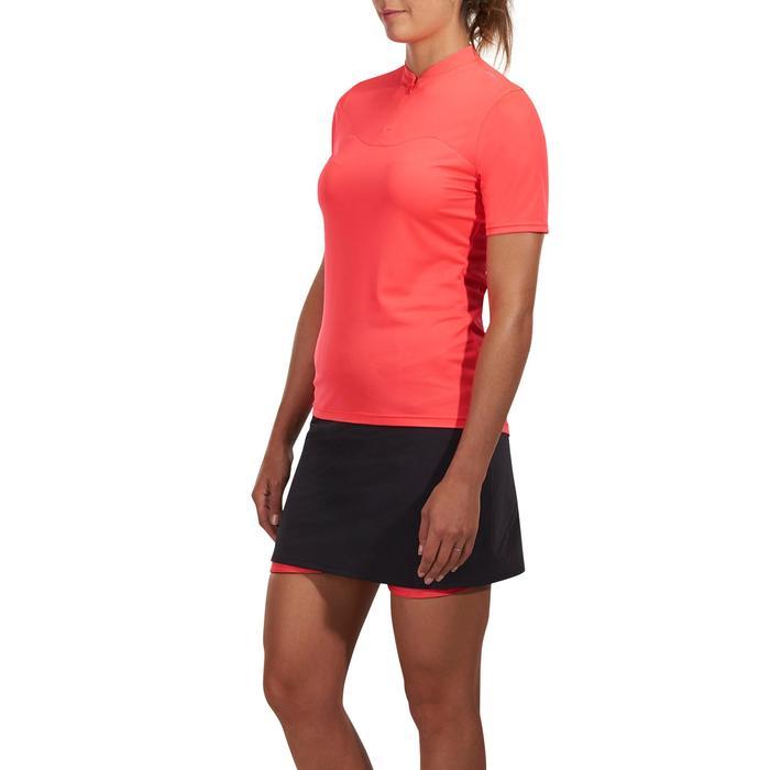 Fietsshirt 100 met korte mouwen voor dames roze