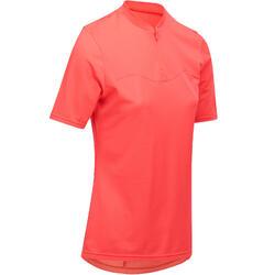 Fietsshirt met korte mouwen dames 100