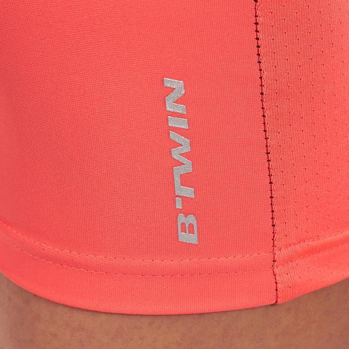 Kurze MTB-Radhose 500 ohne Träger Damen schwarz/pink