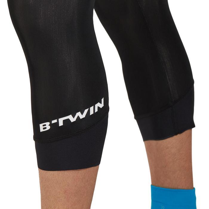 Fietskuitbroek met bretels race heren wielertoerisme RC500 zwart