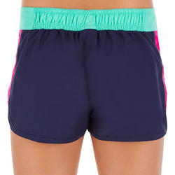 Girls' Semi-Elasticated Waistband Surfing Boardshorts - Colour Block