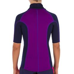 Thermo-Shirt mit UV-Schutz kurzarm Neopren Kinder violett