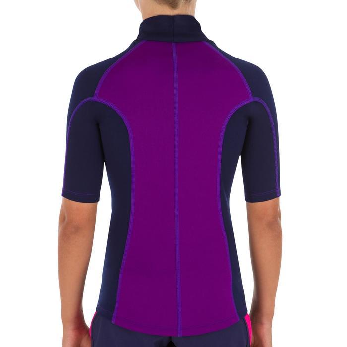 UV-Shirt kurzarm Fleece Kinder violett