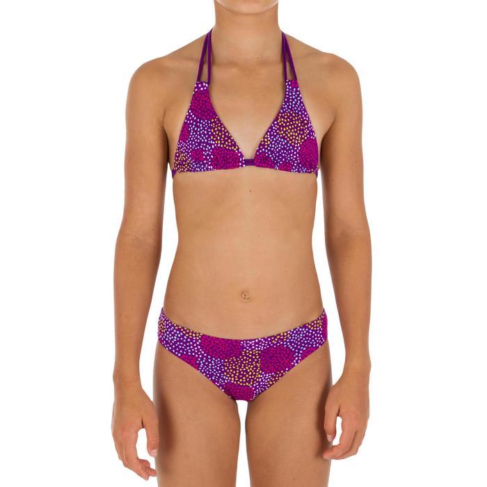 Bikini-Set Triangel-Oberteil Pompon Mädchen violett
