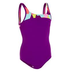 Sportief meisjesbadpak Color Block