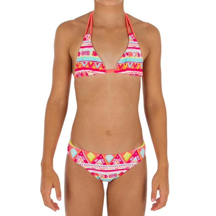 Maillot de bain 2 pièces fille triangle GEO FLUO