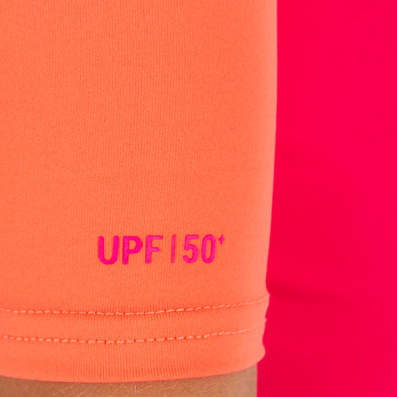 100 Children's Half Sleeve UV Protection Surfing Top T-Shirt - Pink