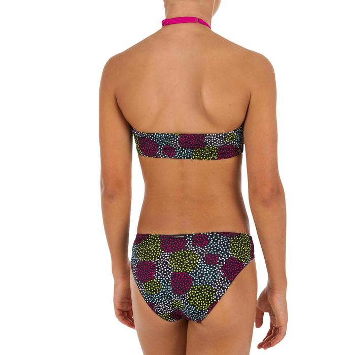 Bikini niña sujetador tipo banda POMPON NEGRO