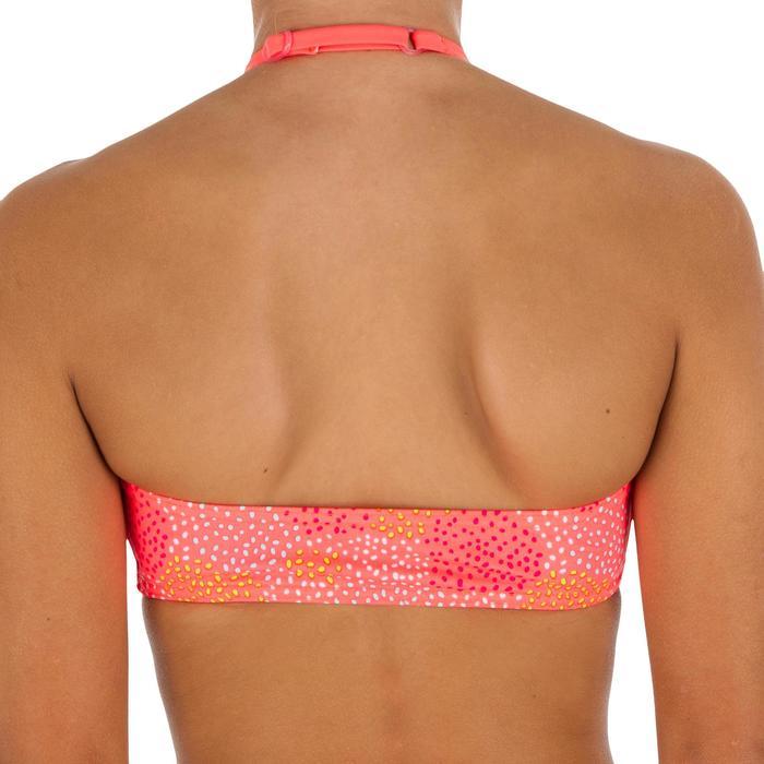 Bikini niña con sujetador tipo banda POMPON FLUO