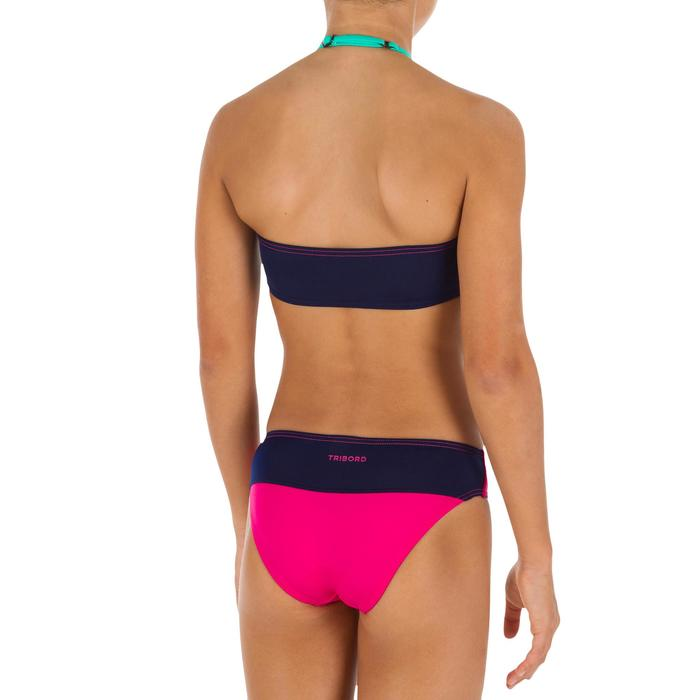 Bikini-Set Bandeau Color Block Mädchen