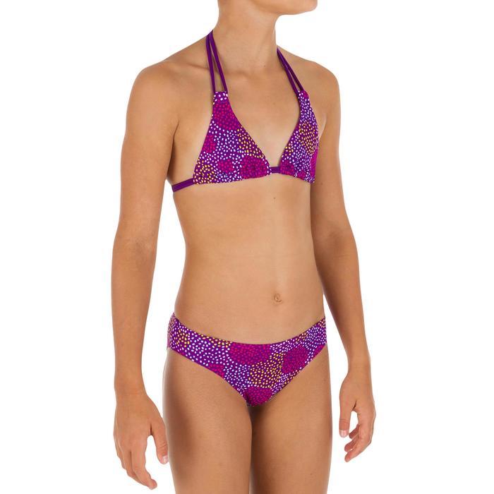 Bikini niña con sujetador de triángulo POMPON VIOLETA