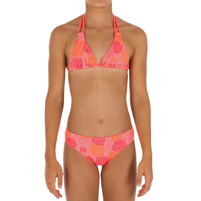Bikini niña con sujetador de triángulo POMPON FLUO