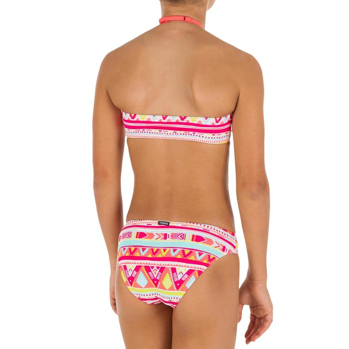 Bikini niña con sujetador tipo banda GEO FLUO