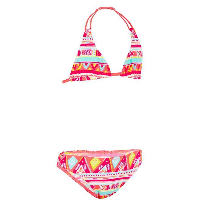 Bikini-Set Triangel Geo Mädchen fluo