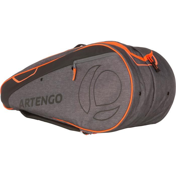 60c05cdb60e09 Tennistasche 500 M Schlägertasche grau orange