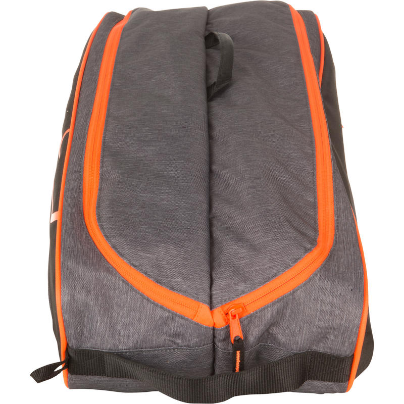 500 M Racket Sports Bag - Grey/Orange