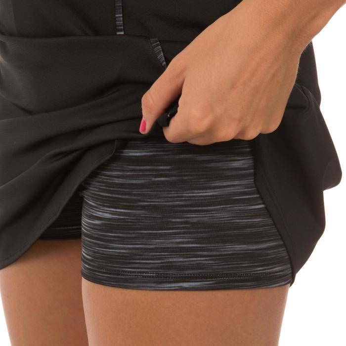 Tennisrock Soft 500 Damen schwarz