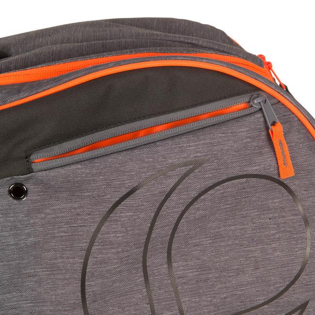 500 M Racket Sports Bag - Grey/Orange