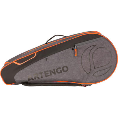 SAC DE SPORTS DE RAQUETTES ARTENGO 500 M GRIS ORANGE