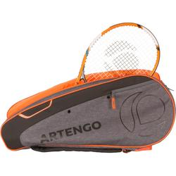 SAC SPORTS DE RAQUETTES ARTENGO 500 M GRIS ORANGE