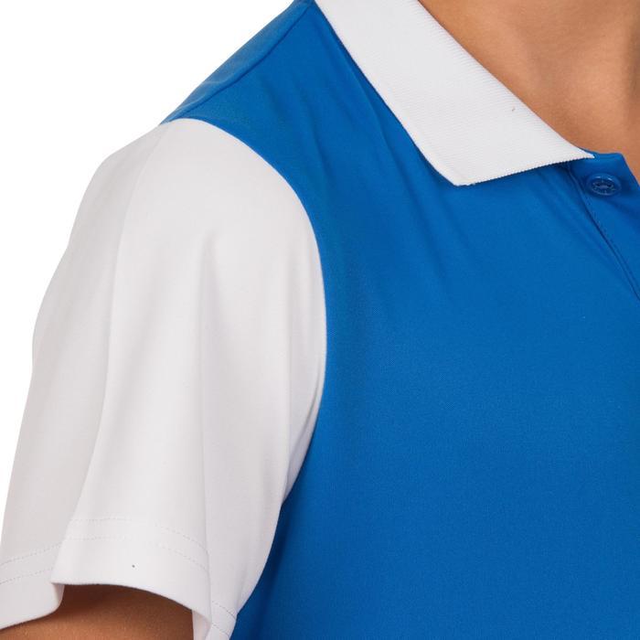 Poloshirt Soft 500 Tennispolo Kinder blau/weiß