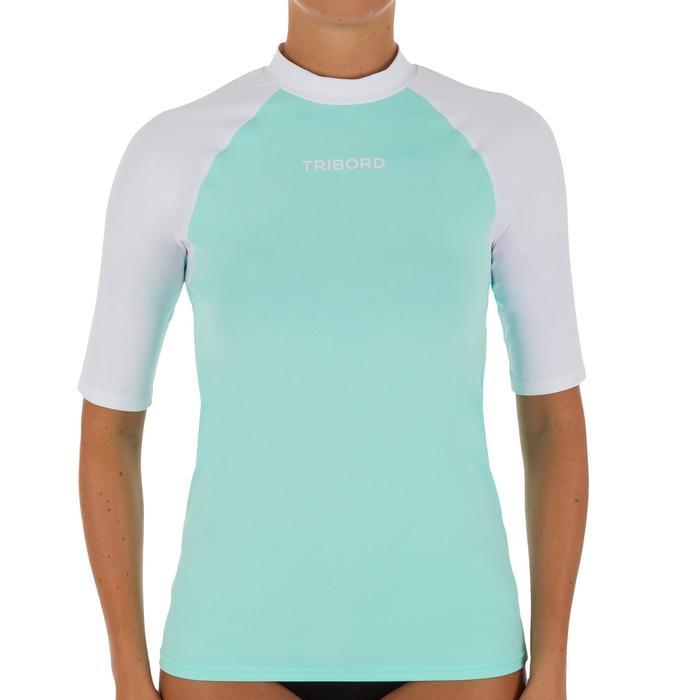 tee shirt anti uv surf top 100 manches courtes femme - 1088053