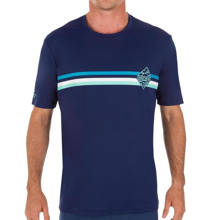 water tee shirt anti UV surf manches courtes Homme bleu marine