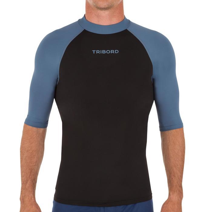 Camiseta anti-UV surf Top 100 manga corta hombre Azul Olaian  a1644b83ab3
