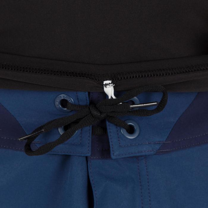 Uv-werende rashguard 100 met korte mouwen voor heren, voor surfen, zwart/grijs