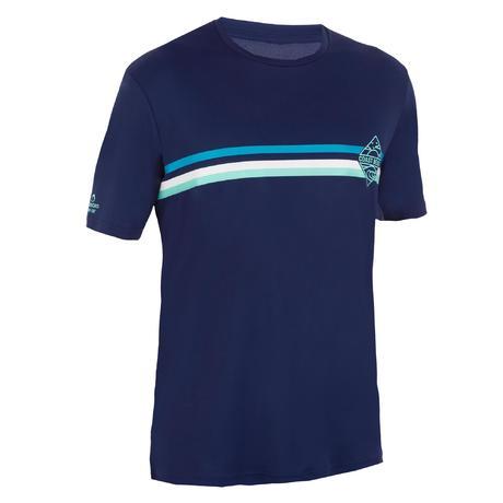Men 39 S Short Sleeved Uv Protection Water T Shirt Navy