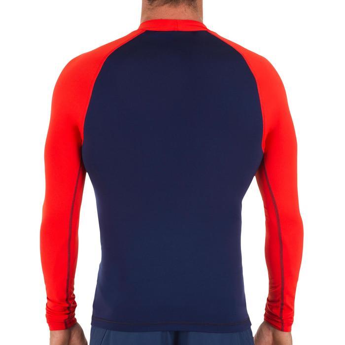 tee shirt anti uv surf top 100 manches longues homme bleu orange