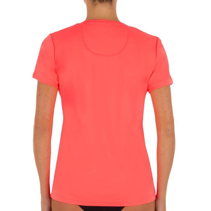 Water camiseta anti-UV surf manga corta mujer Rosa