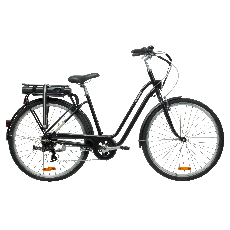 b 39 twin elektrische fiets e bike elops 500 laag frame stadsfiets zwart