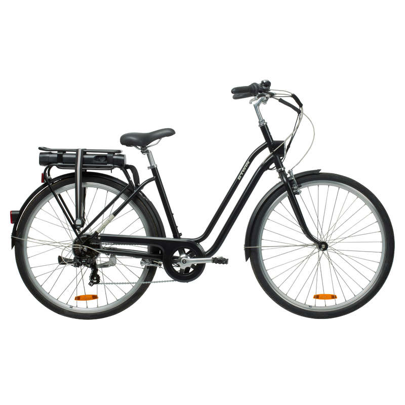 ELECTRIC URBAN BIKES Cycling - Elops 500 E Step Over Classic Electric Bike B'TWIN - Bikes