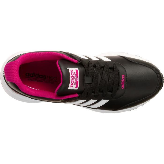 Chaussures marche sportive femme City noir / rose - 1088479